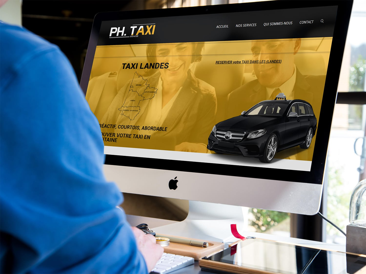 AGENCE CREATION SITE TAXI LANDES